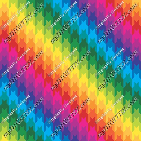 Rainbow Houndstooth
