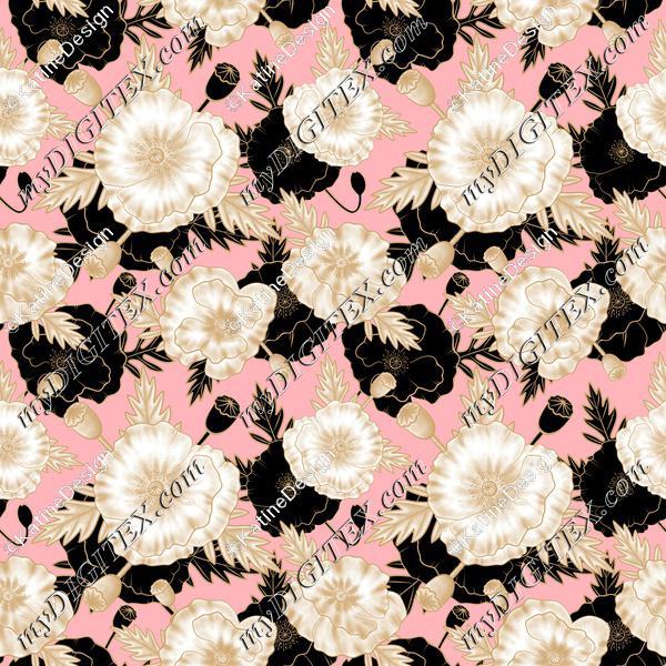 Poppy gold pink