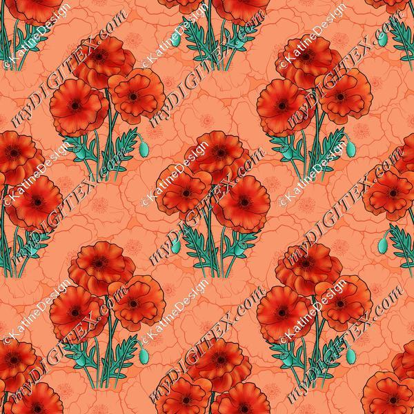 Poppy bouquet orangeBIG