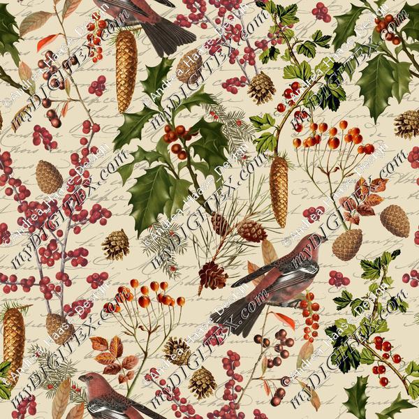 Winter Foliage With Birds