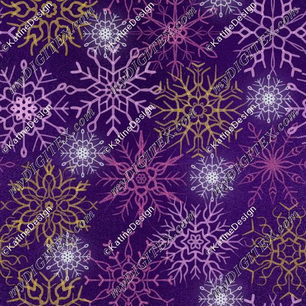 Snowflake indigo