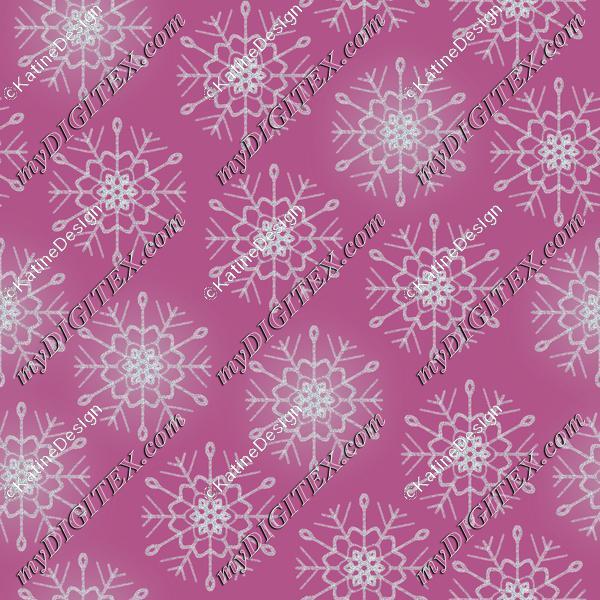 Snowflake silver violet