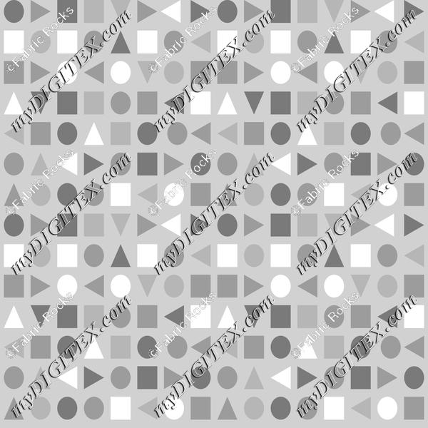 Soft Greys - Geometric Shapes