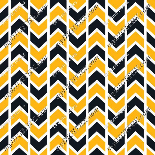 Pittsburgh Chevron Stripes