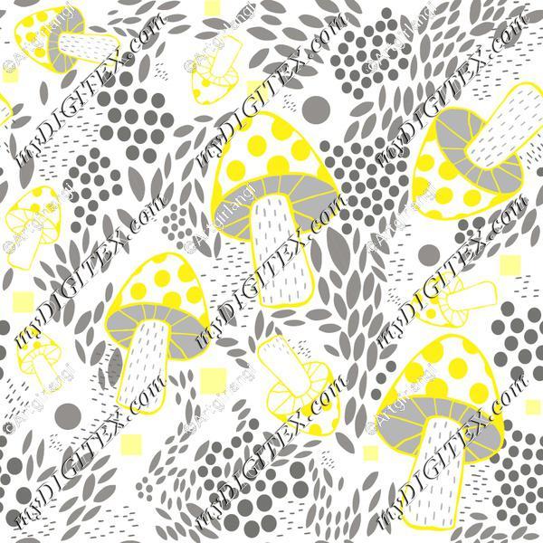 yellow and gray mushroom-01