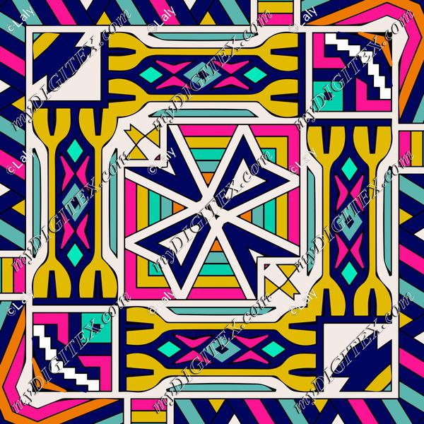 Colorful shapes in a square