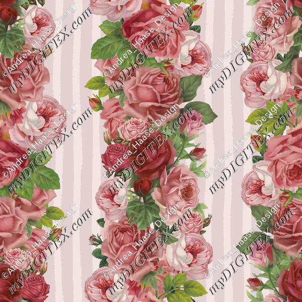 Vintage Rose Stripes