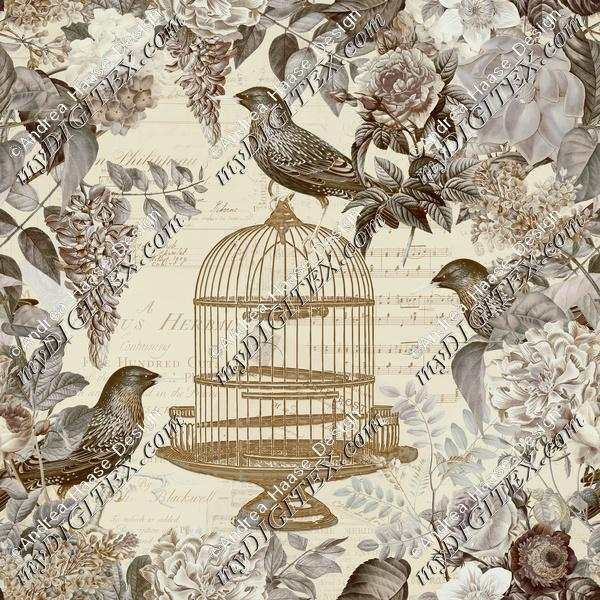 Birdcage and Flower Romance