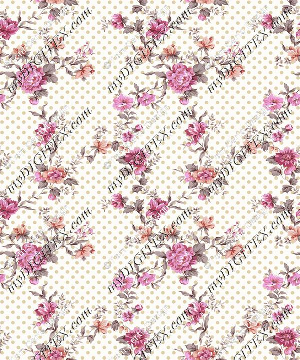 Dots floral print