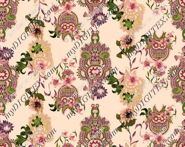 paisley indian floral print