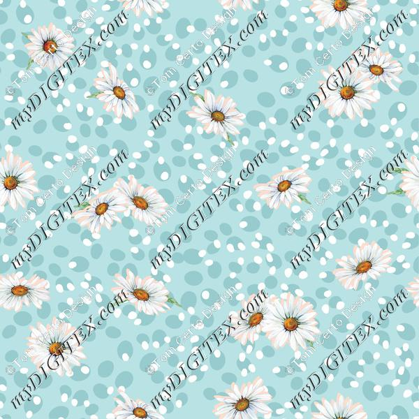 Dots daisy floral print
