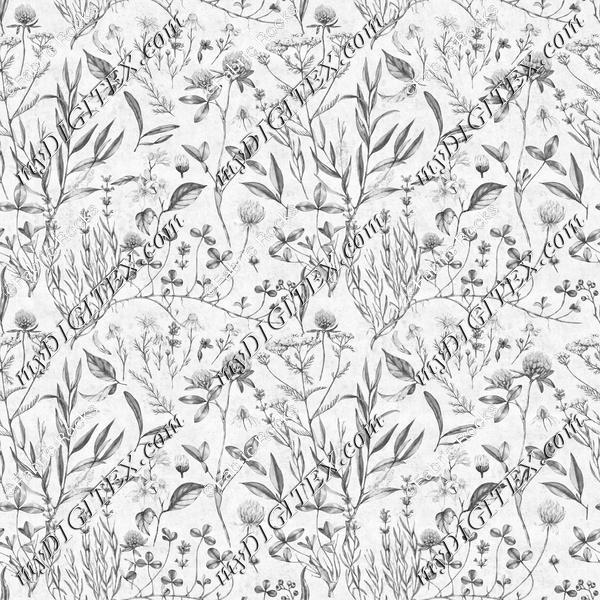 Cottagecore Flora Greyscale