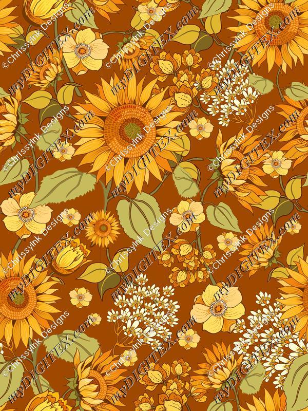 70s Sunflowers REPEAT