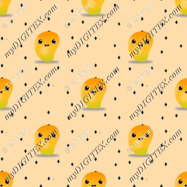 mango fruit kawaii