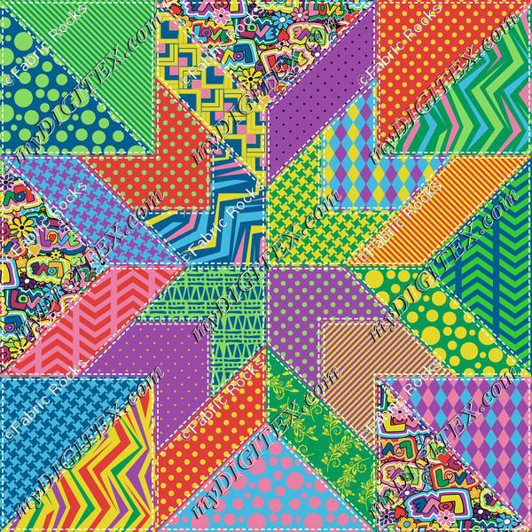 Hippie Love Quilt Block 104