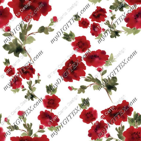 watercolour floral print