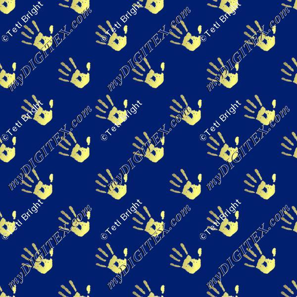 gold hand prints