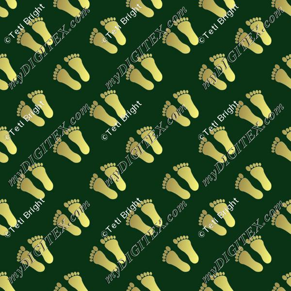 gold foot prints