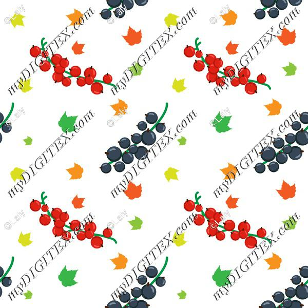 Fruits and leaves pattern