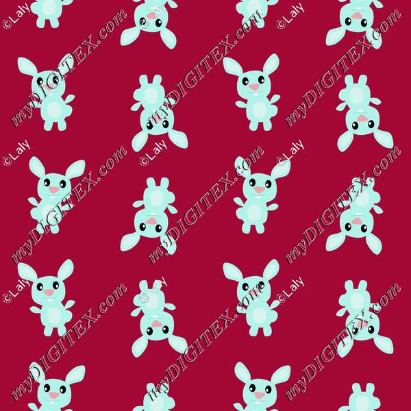 Blue bunny pattern
