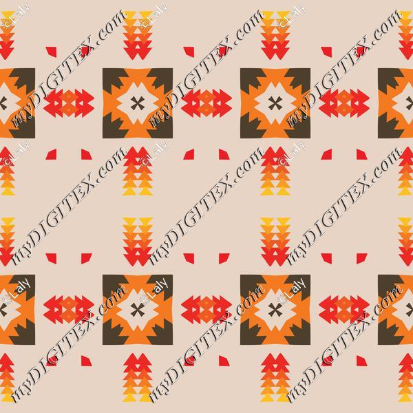 Tribal shapes pattern