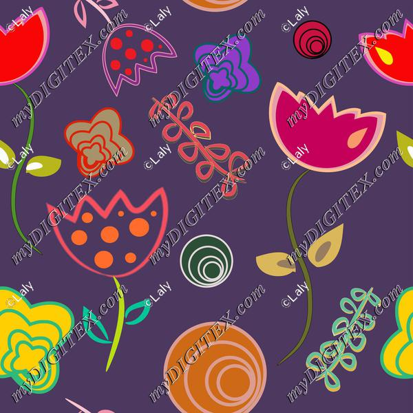 Flowers on a purple background