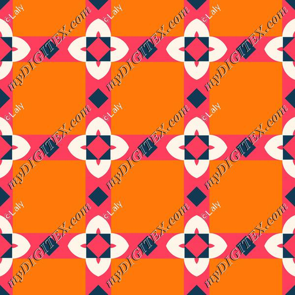 Flowers and squares pattern