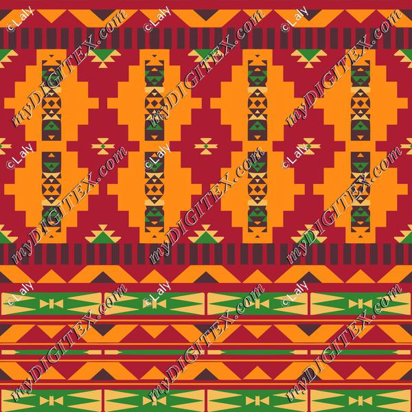 Tribal shapes in retro colors