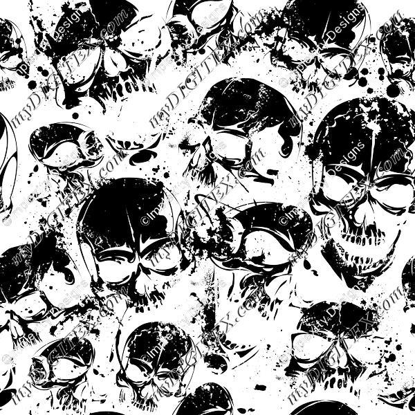 Grunge Skulls (black)