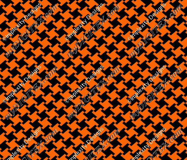 Pumpkin Houndstooth