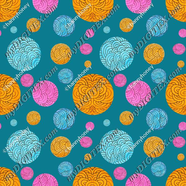 Mandala Polkadots - Turquoise