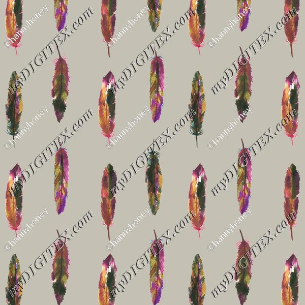 Feathers 1 - Light Grey