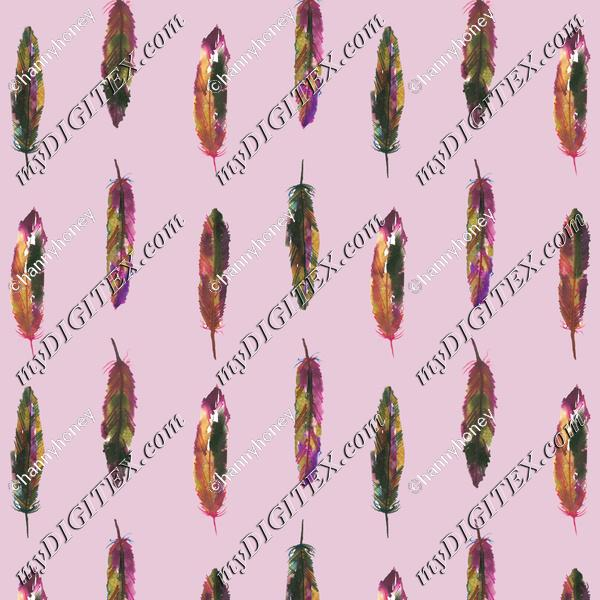 Feathers 1 - Pink