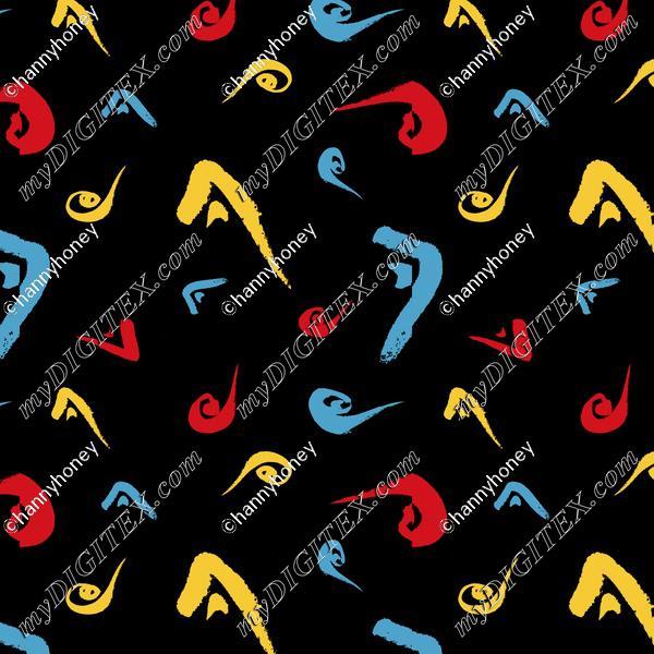Mondrian Splash - Black