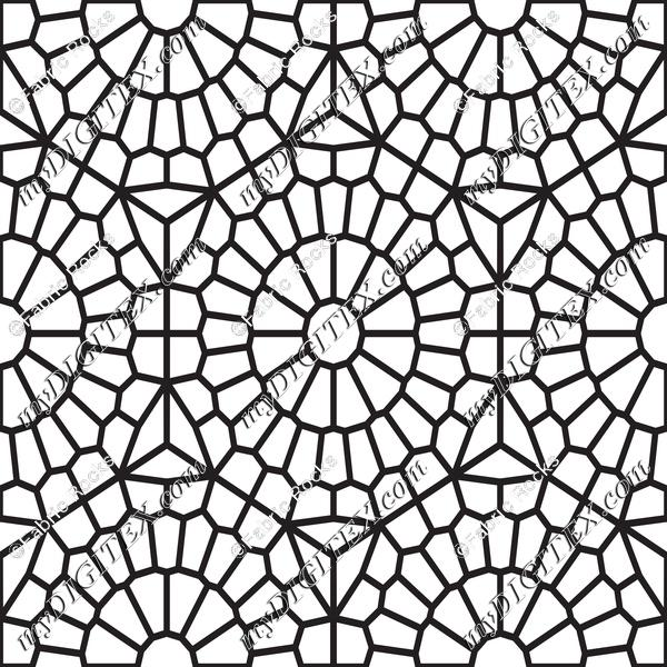 Mosaic Tiles Coloring