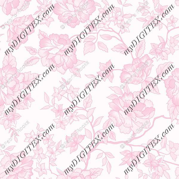 Pink Rose Toile