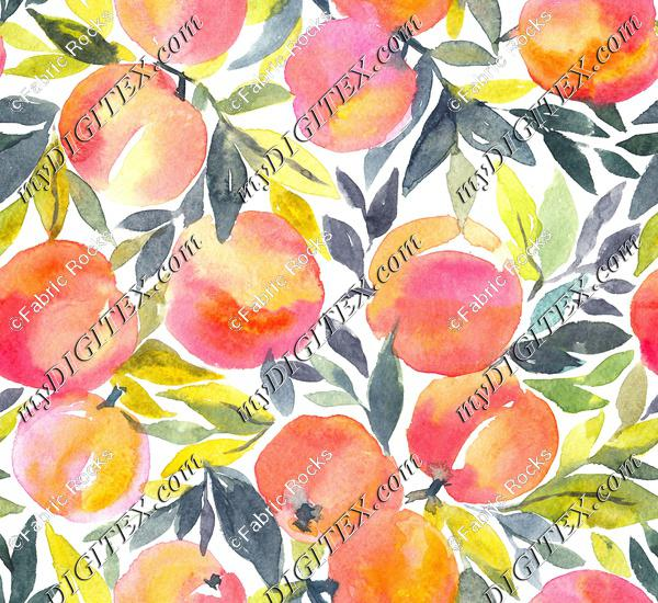 Peachy Watercolor
