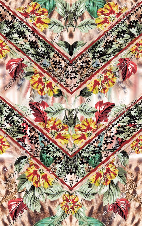 Ethinic floral skin