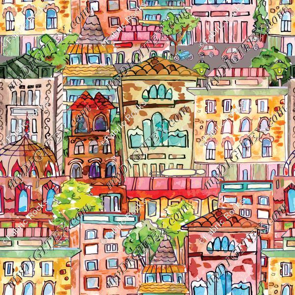 Neighborhood Watercolor