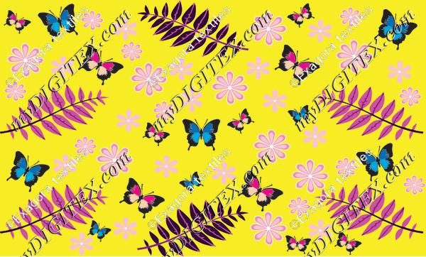 butterfly leaves motif 2