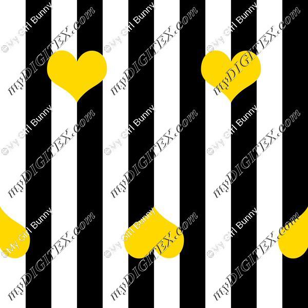 Big stripe with hearts