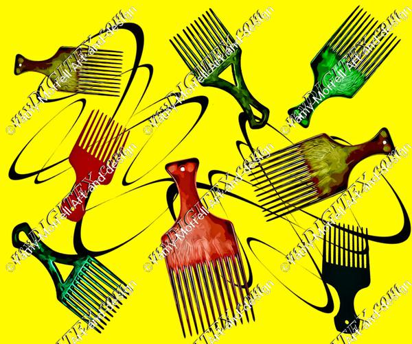 Afro comb-Yellow