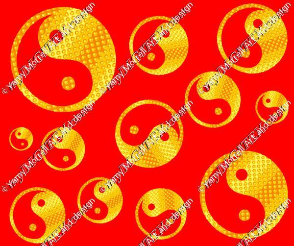 Yin yang Red