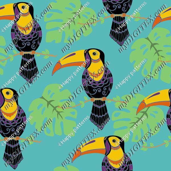 Toucans tropical birds