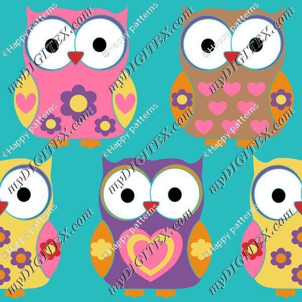 Cute. Funny owls