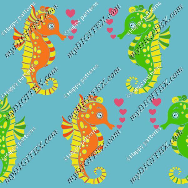 Seahorses in love
