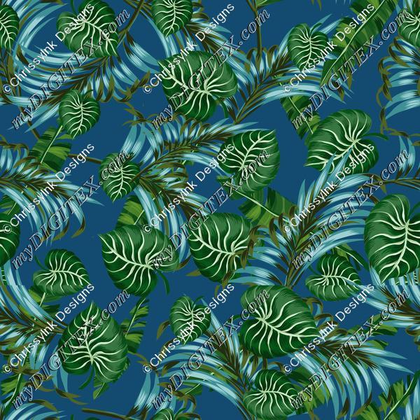TropicalGreenOnBlueREPEAT