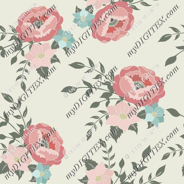 English Home Romantic Pink Floral