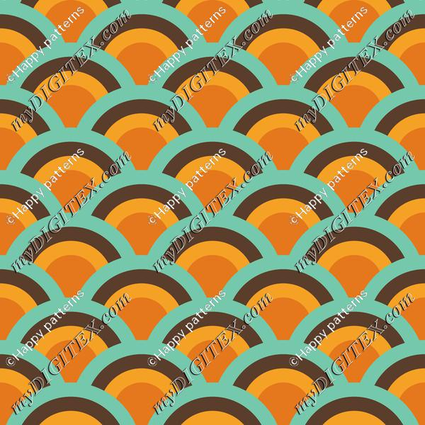 Retro Vintage Wave Abstract Pattern
