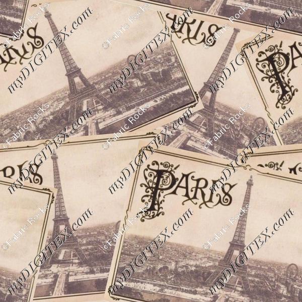 Retro Paris Postcards